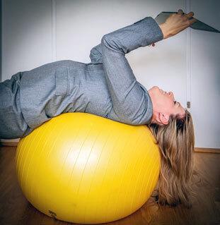 Arbeitsschwung am Gymnastikball